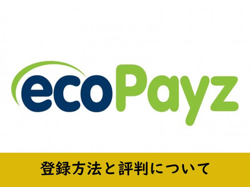 ecoPayzの登録方法と評判について(入金・出金)