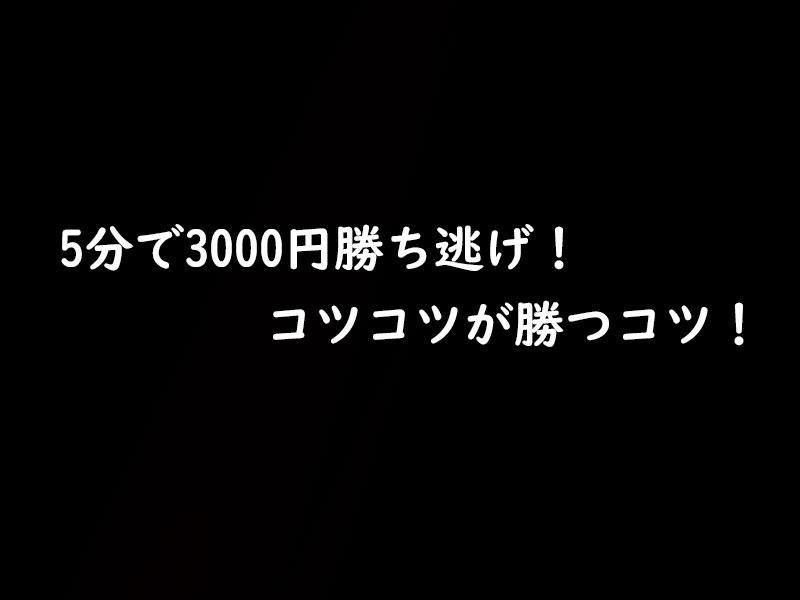 5分で3000円勝ち逃げ実践!