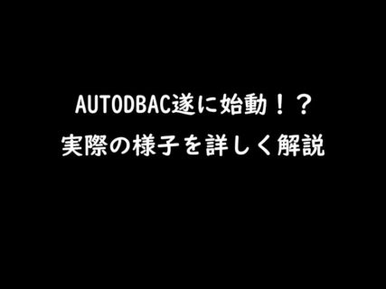 AUTO DBAC(オートDBAC)遂に始動?!実際の状況はどうなのか!?